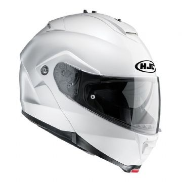 HJC IS-Max 2 Flip Front Motorcycle Helmet White - Free Pin Lock Insert